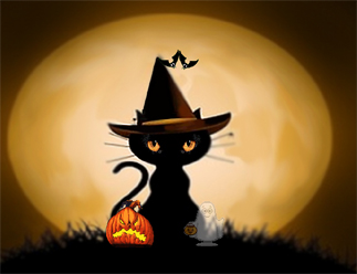 Screensavers on Free Halloween Screensaver Black Cat Screensavers By Equest